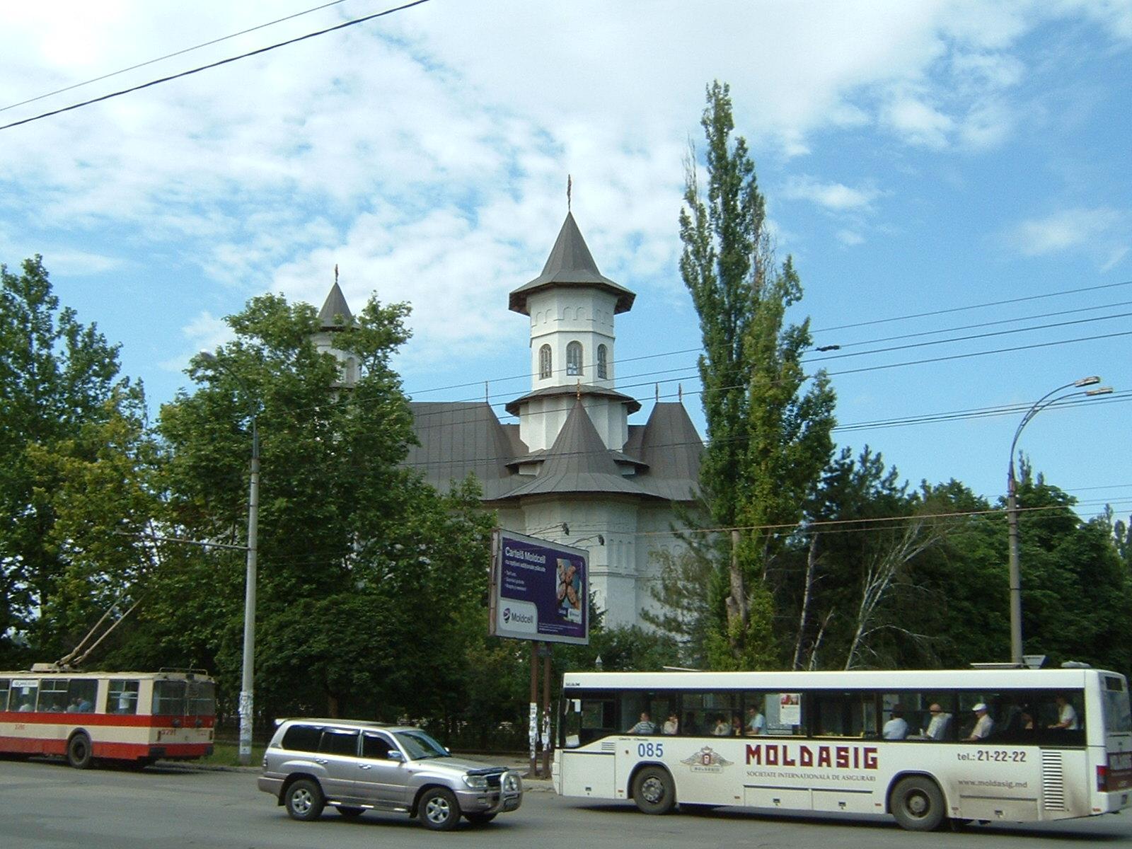 Eine orthodoxe Kirche, dich gerade gebaut wird.