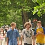 Mit zwei Jungs vom Teenkreis